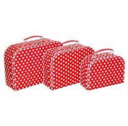 Alimrose Kids Carry Case Set - Red White Polka