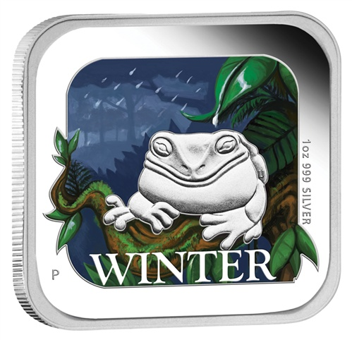 2013 $1 Australian Seasons Winter 1oz Silver Proof