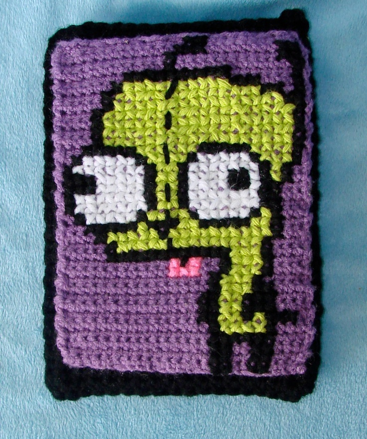 Crochet Invader Zim Patterns : Custom Crochet Invader zims GIR Craft Ideas Pinterest