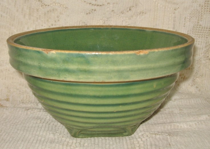 Early Green Pottery Mixing Bowl I Have This