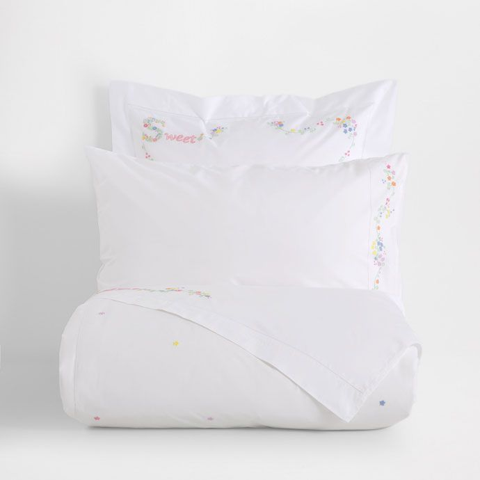 Image of the product Floral Embroidery Percale Cotton Duvet Cover