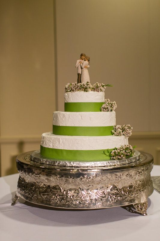 Cake And Promise Willow Tree Cake Topper With Green Ribbon