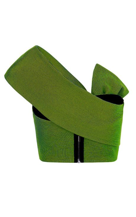 Spring Green Bouquet Knot Bodice by Maticevski for Preorder on Moda Operandi