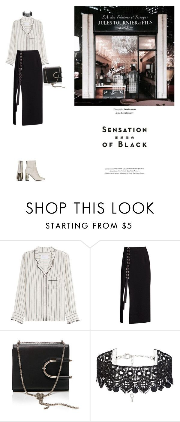 """""""Sensation of black"""" by yenybarriot on Polyvore featuring Vision, Zadig & Voltaire, Thierry Mugler and Topshop"""