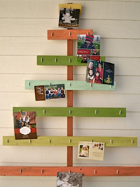 Attached to a Tree-Shaped Holder http://www.ivillage.com/creative-ways-display-holiday-cards/7-a-551520