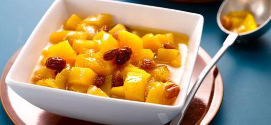 Delhaize - Mangocompote met rozijnen en specerijen