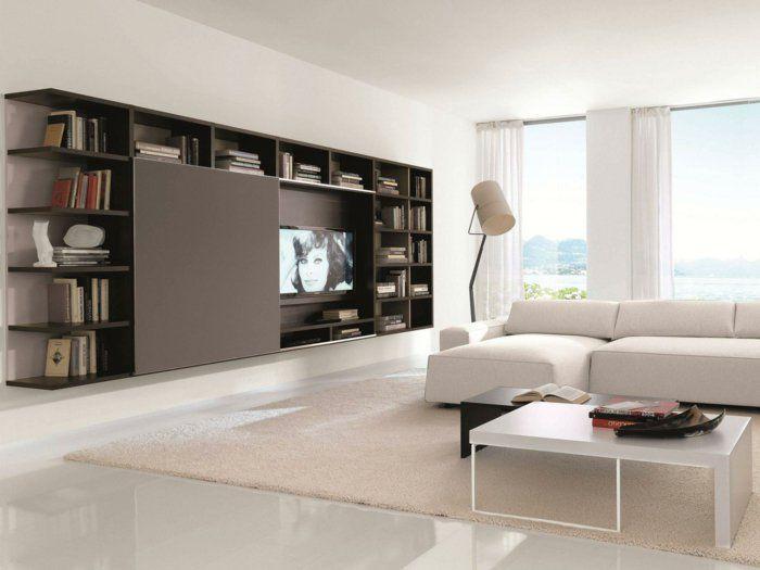 tv wohnwand fernsehwand tv wandregal tv wnde - Design Fernsehwnde