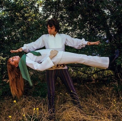 Jim Morrison, pamela courson, and morrison hotel image