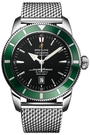 Breitling Super Ocean Ltd edition Black face Green Bezel  pre-owned  £3995
