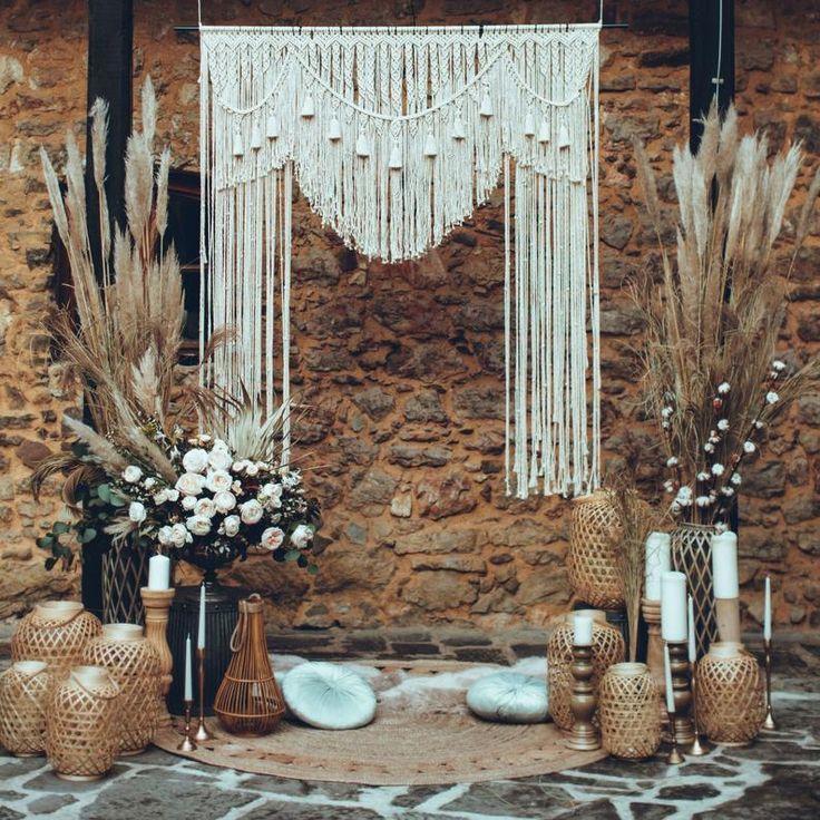 macrame wedding backdrop wedding decor