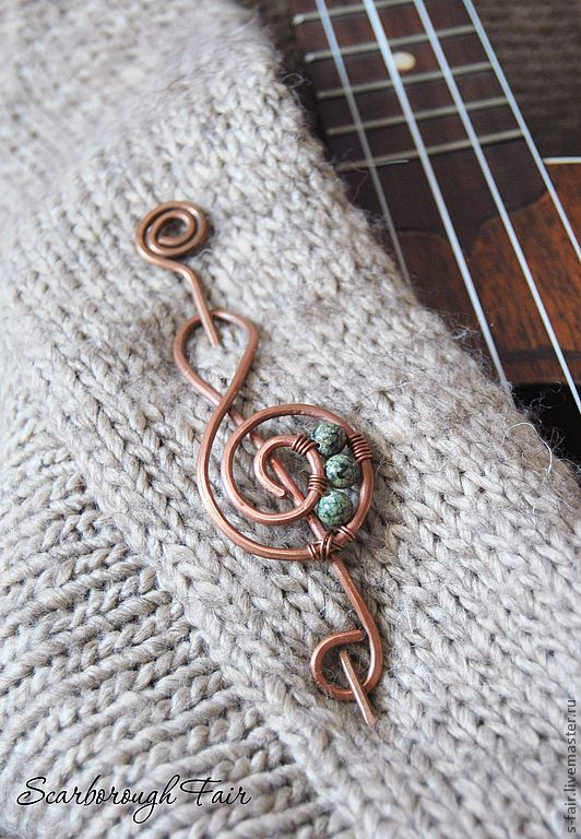 "Brooch handmade.  Fair Masters - handmade Fibula ""The Sound of Mu.""  Handmade."