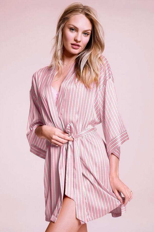 Victoria's secret pink & white stripes