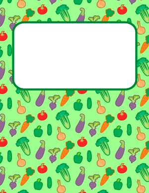 Vegetable Binder Cover