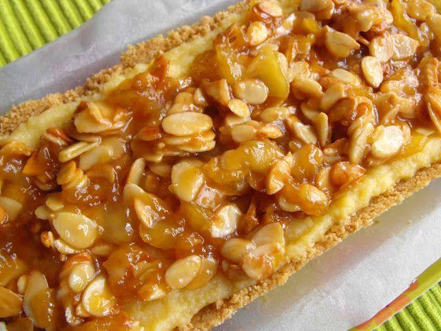 As receitas lá de casa: Tarte de creme de pasteleiro com maçã e amêndoa