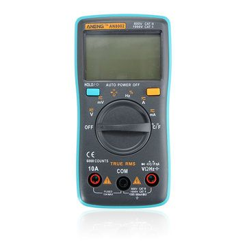ANENG AN8002 Digital True RMS 6000 Counts Multimeter AC/DC Current Voltage Frequency Resistance Temperature Tester ℃/℉ Sale - Banggood.com