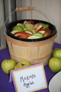 Apples at a Rapunzel party