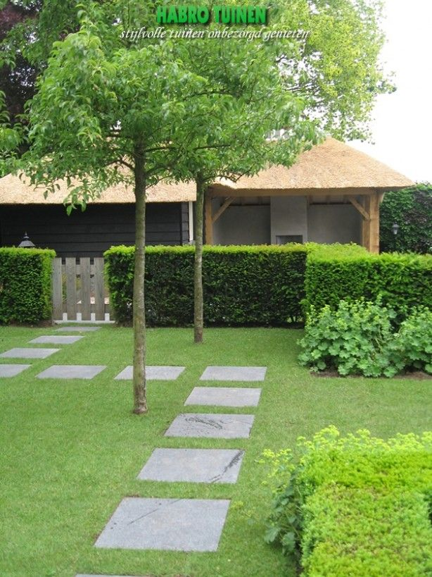 Neat and clean backyard landscaping design