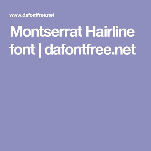 Montserrat hairline font