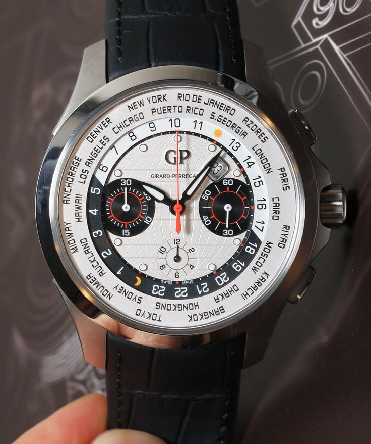 Girard Perregaux Traveller WW.TC World Timer Watch Hands On girard perregaux