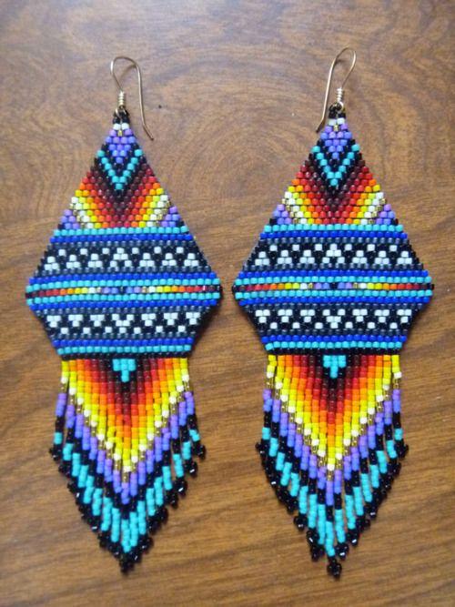 how to make native american beadwork earrings
