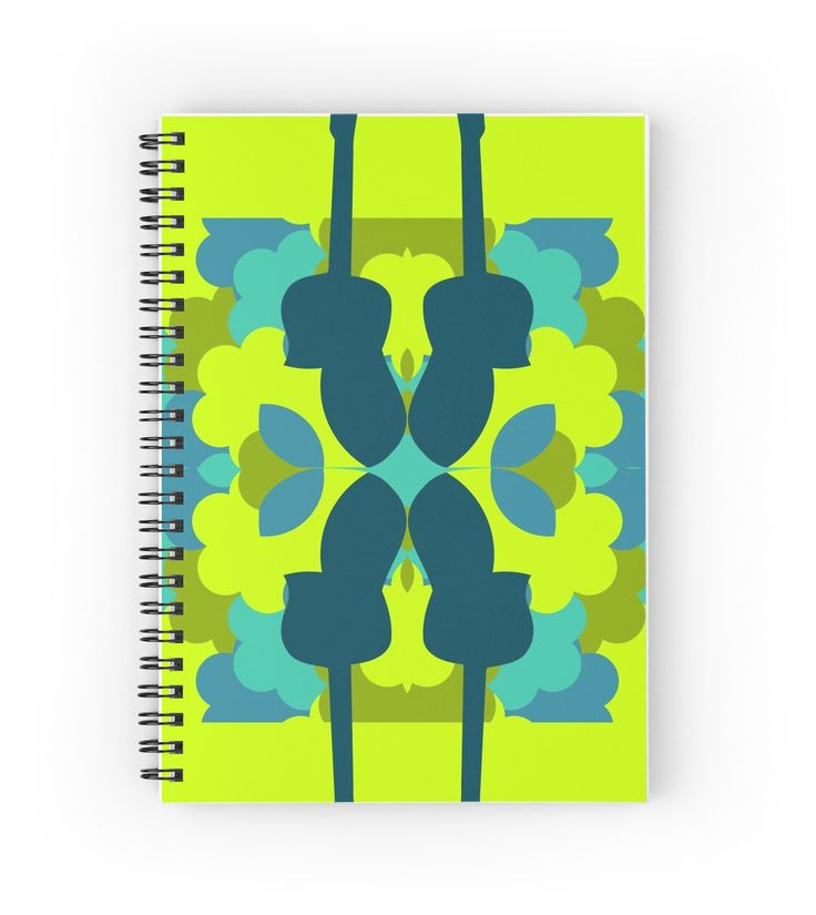 #Guitars, colors and #patterns by cocodes #notebook #music #redbubble