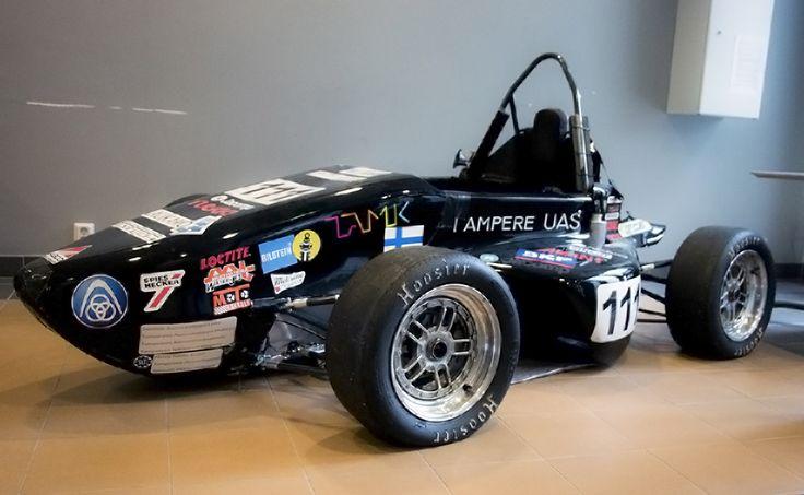 TAMK's formula at Automobile and Industrial Vehicle Engineering Laboratory. Tampere UAS Motorsport.
