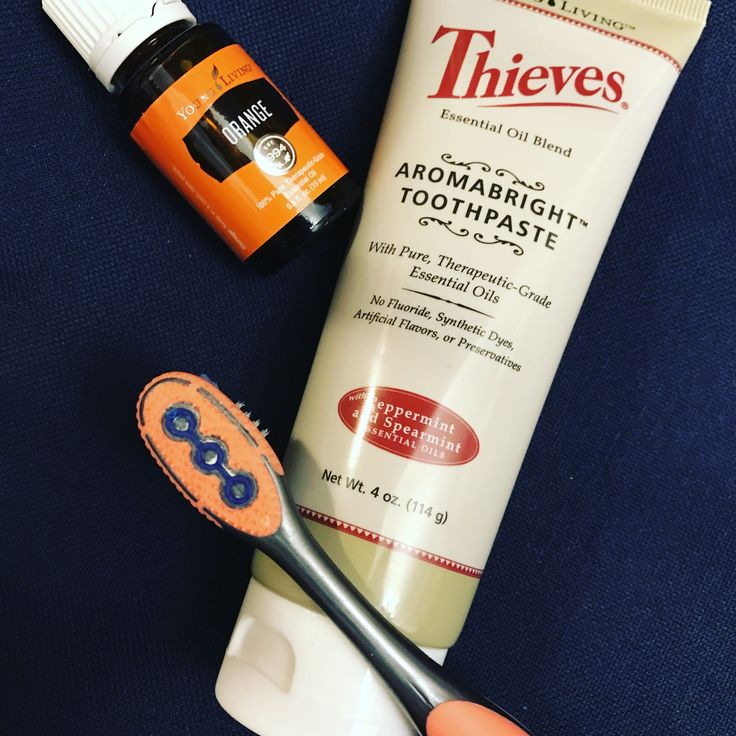 Love Thieves toothpaste with a drop of Orange EO to help whiten. My teeth are very sensitive to the cold & I've been afraid to try it, NOW I will never go back. There aren't any nasty chemicals so it doesn't foam but I'm over that!! My mouth has never felt so clean!!!