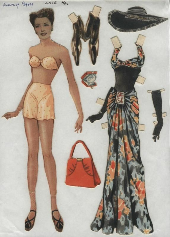 1940s Paper Doll and Clothes