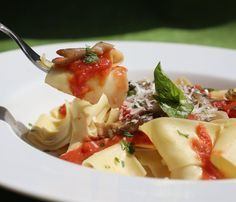 Pappardelle Campagnole with Mushrooms and Garlic has lots of rustic flavor.
