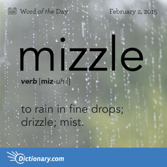 mizzle to rain in fine drops drizzle mist  words definition  Words Words Words
