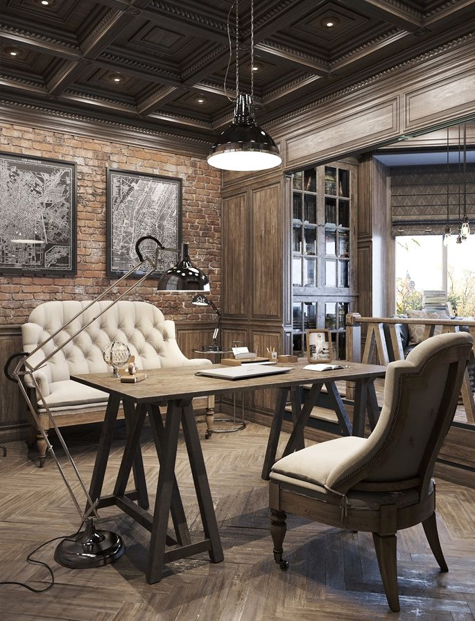 Awesome Vintage Decor Ideas For A Brick Steel Home 02 Office Homedecor