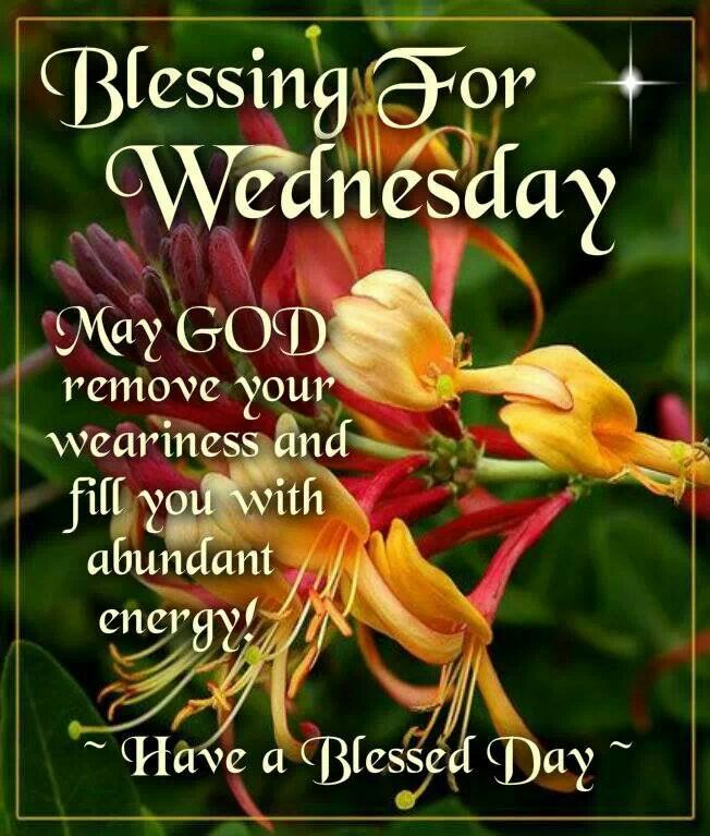 Blessing For Wednesday Wednesday Blessings Morning Quotes Good