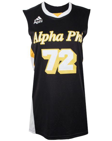 Alpha Phi 72 Sports Jersey by Adam Block Design | Custom Greek Apparel & Sorority Clothes | www.adamblockdesign.com