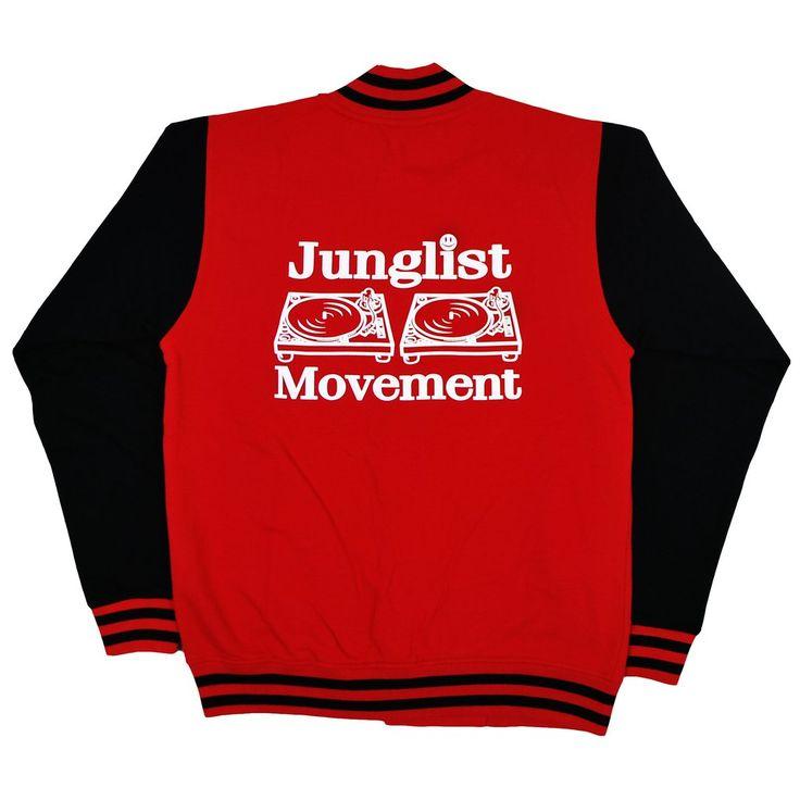 Aerosoul Junglist Movement 'Princeton' Uni-Sex Varcity Jacket (Fire Red/Black)