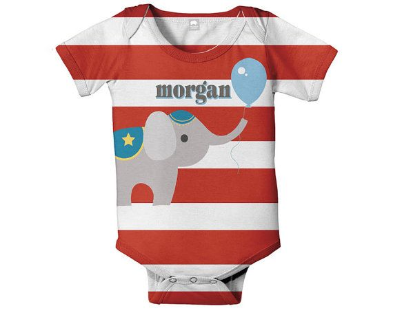 Circus Baby Bodysuit Personalized Infant by SimplySublimeBaby