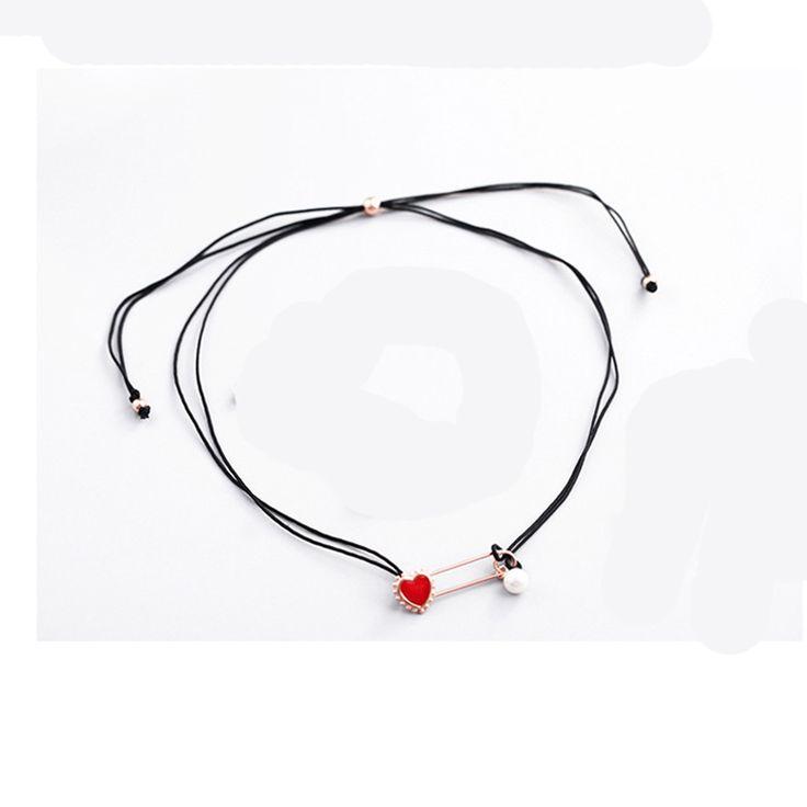 Barato Coração vermelho Real 925 Sterling Silver Colares Pingente Para Declaração de Mulheres Hot Moda esterlina prata jóias, Compro Qualidade Pingente Colares diretamente de fornecedores da China: