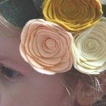 Felt Flower Headband www.fawnandclover.com