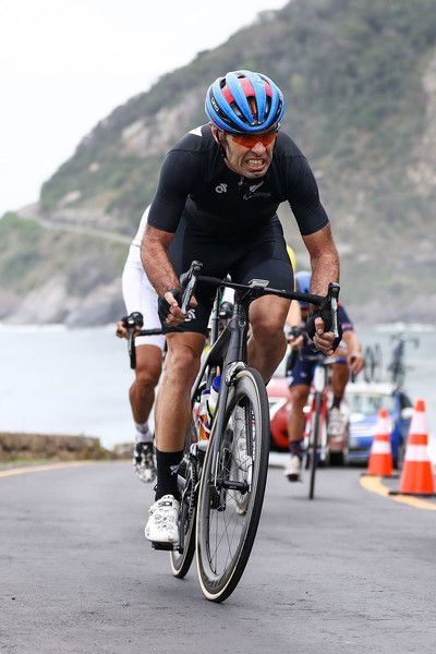 Fraser Sharp of New Zealand competes in the Men's Road Race C1-2-3 on day 9 of the Rio 2016 Paralympic Games at Pontal on September 16, 2016 in Rio de Janeiro, Brazil.