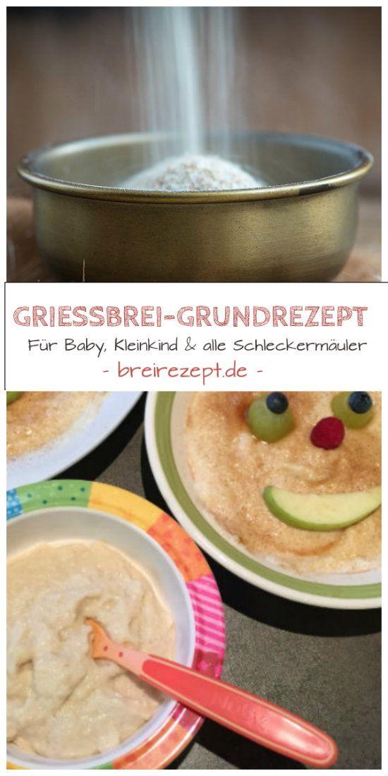 Griessbrei Rezept ohne Ei, das sich in Verbindung mit Obstbrei wunderbar als Babybrei am Abend eignet. Dieses Beikost Grundrezept schmeckt aber auch der ganzen Familie, ist einfach zu machen und zuckerfrei: http://www.breirezept.de/rezept_griessbrei_.html