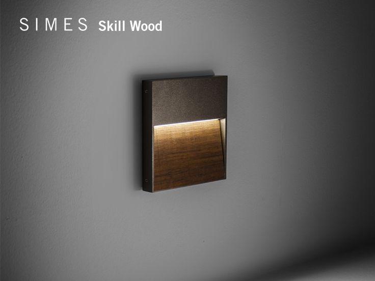 Teak wall lamp SKILL WOOD - SIMES