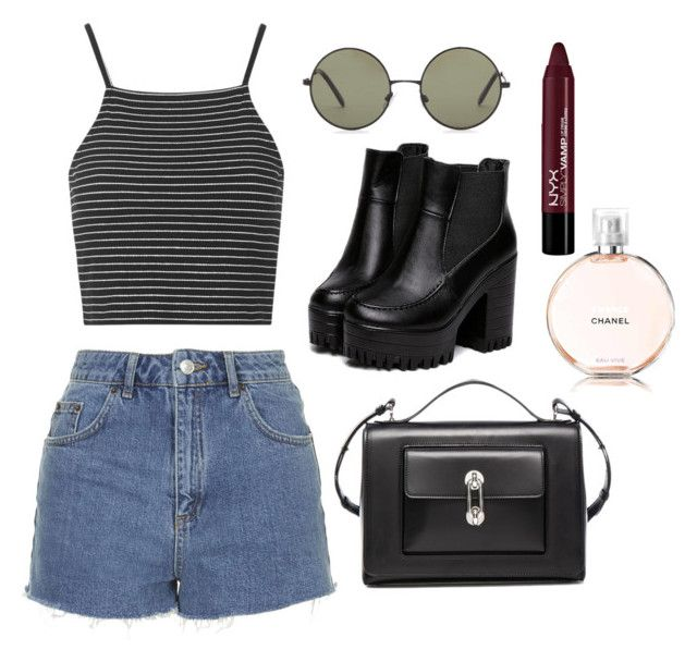 """""""Sem título #5"""" by ndr03 ❤ liked on Polyvore featuring Topshop, Forever 21 and Balenciaga"""