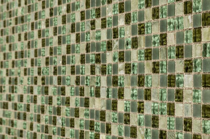 BuildDirect – Mosaic Tile - British Garden Series  – Fern - Angle View