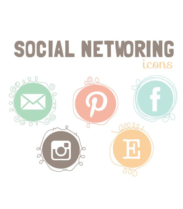 Social Networking icons blog social media icons - Social media- blog website buttons. $9.00, via Etsy.