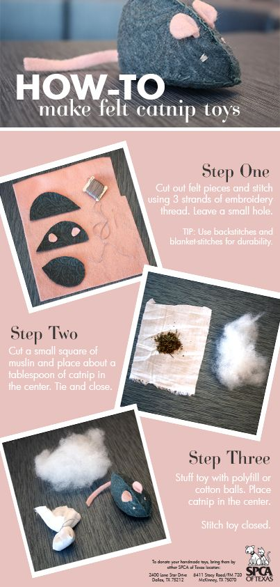 How to make a fleece #catnip toy for #pets at the #spcaoftexas. Find out how to donate this wish list item, by clicking: www.spca.org/page.aspx?pid=224