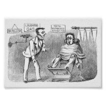 Vintage Dentist, Extracting teeth without pain! :) Poster