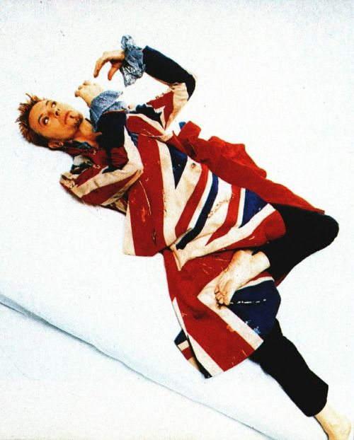 David Bowie wearing a British Union Jacket