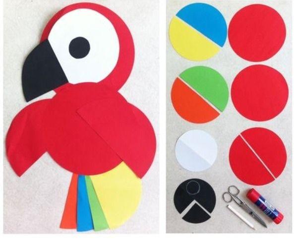 Papegaai Van Ronde Vouwbladjes/ Parrot And Folding Paper!! #Entertainment #Trusper #Tip