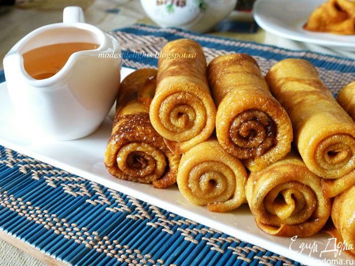 Тыквенные блинчики с корицей  Портал кулинарных рецептов «Едим дома!»