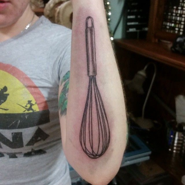 Bakers gonna bake. #whisk #cook #chef #tattoo #montreal #verdun #tattoos…