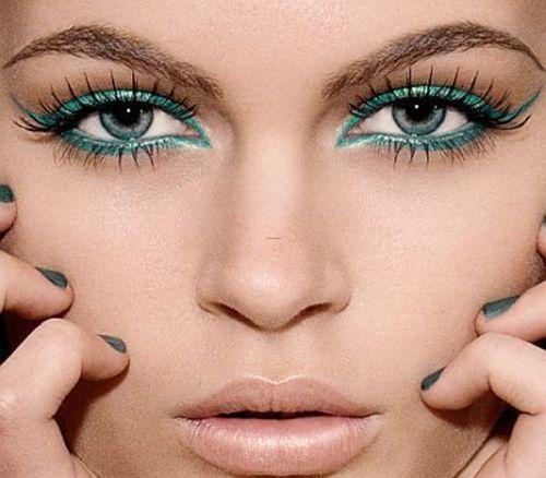 Turquoise eye makeup: Make Up, Eyeliner, Cat Eye, Eye Makeup, Color, Blue Eye, Eyemakeup, Eye Liner, Green Eye